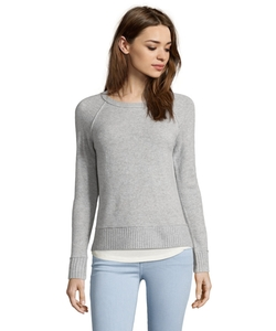 Magaschoni - Knit Hi-Low Raglan Sleeve Sweater