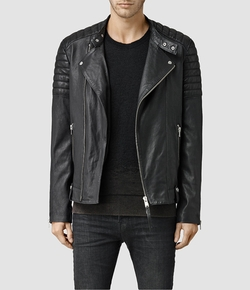 AllSaints - Jasper Leather Biker Jacket