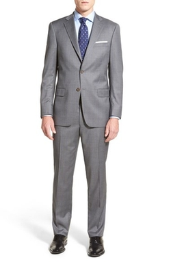 Hart Schaffner Marx  - Classic Fit Plaid Wool Suit