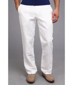 Perry Ellis  - Linen Cotton Herringbone Suit Pant