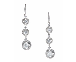 Nadri - Three-tiered Crystal Drop Earrings
