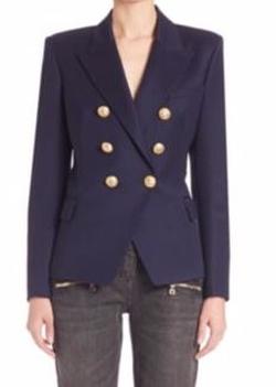 Balmain  - Double-Breasted Wool Blazer