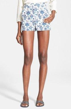 Tamara Mellon  - High Waisted Silk Shorts