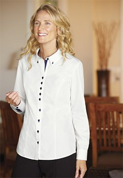 Orvis - Care-Free Contrast-Trim Shirt
