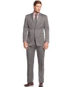 Jones New York  - Grey Tonal Herringbone Suit