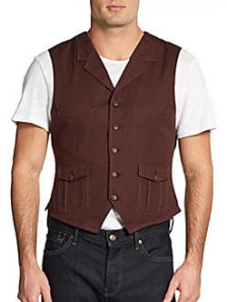 Jachs - Pinstriped Cotton Vest
