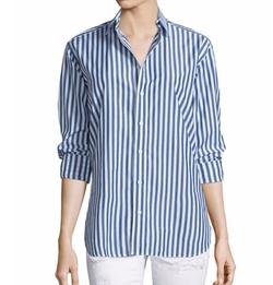 Rag & Bone/Jean - Button-Front Striped Boyfriend Shirt