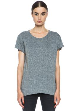 CURRENT/ELLIOTT  - Crew Neck Poly-Blend Tee in Heather Grey
