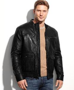 Michael Kors  - Woodland Four-Pocket Leather Jacket
