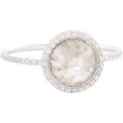 Monique Péan Minéraux  - Grey Diamond, Pavé Diamond & Platinum Ring