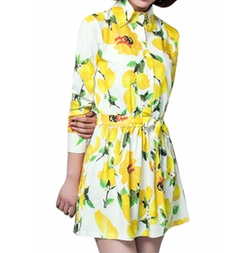 Uxcell - Lemon Print Dress