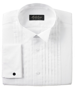Michelsons of London - Pleated Wing Tuxedo Shirt
