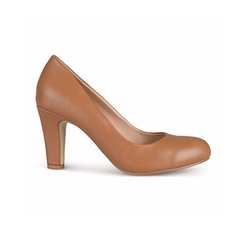 Brinley Co.  - Womens Chunky Heel Matte Finish Pumps