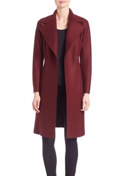 Harris Wharf London  - Single Breasted Solid Wool Long Coat