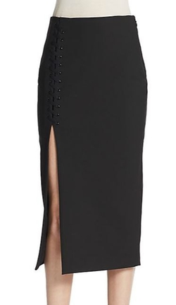 Elizabeth and James  - Kennedi Lace-Up Pencil Skirt
