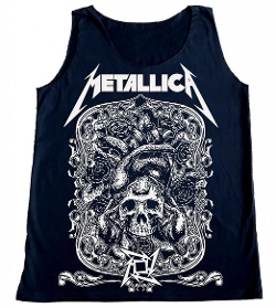 TFM - Metallica Skull Logo Rock Tank Top