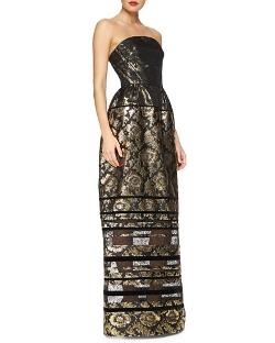 Oscar De La Renta - Floral Long Dress