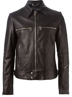 Diesel Black Gold - Classic Collar Leather Jacket
