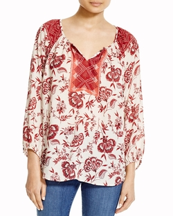 BeachLunchLounge - Arianna Floral Print Peasant Top
