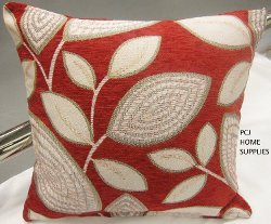 PCJ Supplies - Floral Chenille Throw Pillow