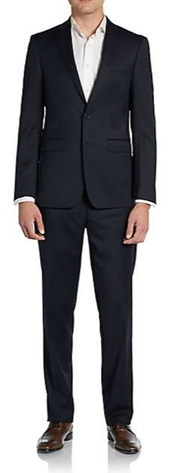 Calvin Klein  - Extreme Slim-Fit Solid Wool Suit