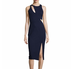 Nicholas  - Sleeveless Ponte Curve Splice Dress