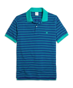Brooks Brothers - Slim Fit Thin Double Stripe Polo Shirt