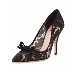 Kate Spade New York - Lisa Too Lace Bow Pumps