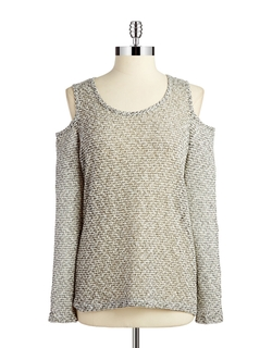 Lord & Taylor - Knit Cold-Shoulder Top