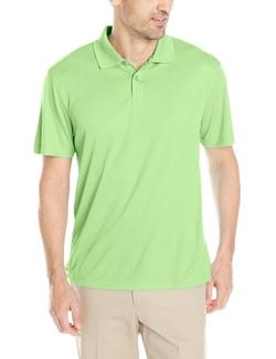 Haggar - Short-Sleeve Mini-Grid Two-Button Polo Shirt