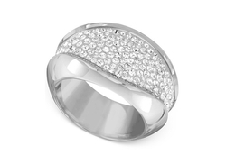 Swarovski - Cycle Rhodium-Tone Crystal Ring