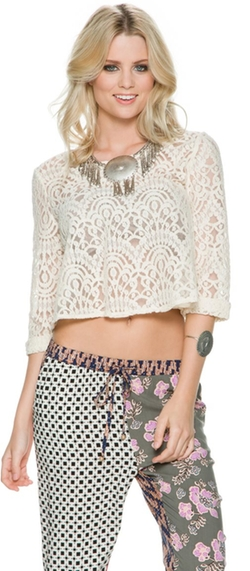 Swell  - Belter 3/4 Sleeve Lace Top