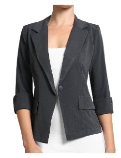 LE3NO  - Womens Fitted Sleeve Blazer Jacket
