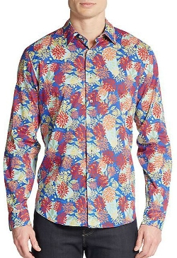 Robert Friedman  - Floral-Print Cotton Sportshirt