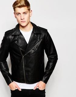 Jack & Jones - Faux Leather Biker Jacket