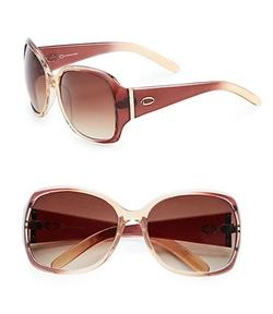 O by Oscar De La Renta  - Plastic Oversized Sunglasses