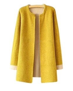 Fengbay - Long Loose Sweater Coat