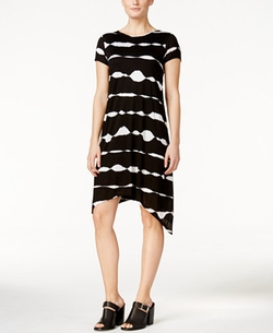 Kensie - Striped Handkerchief-Hem Dress
