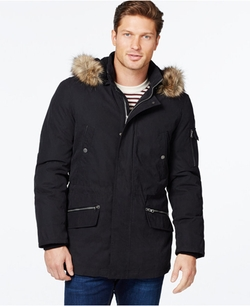 Nautica - Parka with Removable Faux-Fur Hood