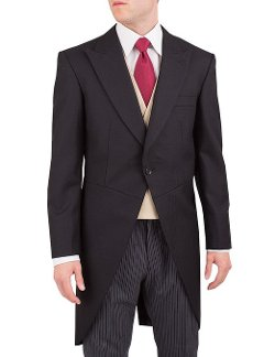 Alexander Dobell - Herringbone 1 Button Suit Tailcoat