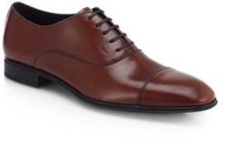 Salvatore Ferragamo - Remigio Captoe Lace-Up Oxfords Shoes