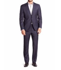611 Saks Fifth Avenue New York - Sharkskin Wool Suit
