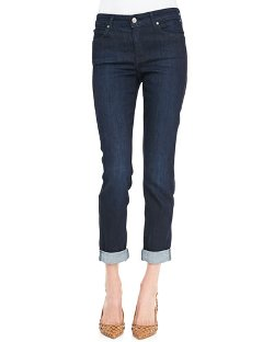 CJ by Cookie Johnson - Polished Boyfriend Ankle-Cuff Jeans