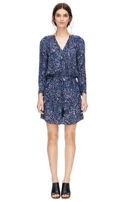 Rebecca Taylor - Long Sleeve Block Print Dress