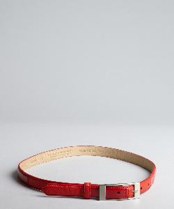 FASHION FOCUS  - Patent Leather Skinny Belt
