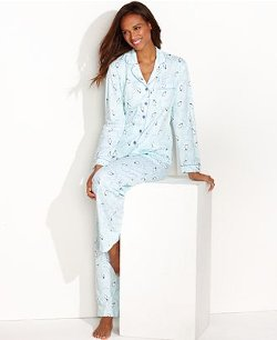 Charter Club  - Brushed Knit Top and Pajama Pant Set