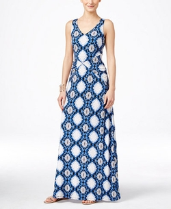INC International Concepts - Printed V-Neck Maxi Dress