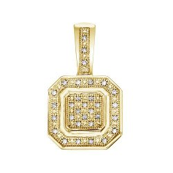 14k Co. - Double Square Pendant Necklace