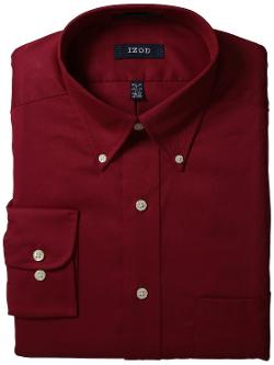IZOD  - Mens Twill Dress Shirt