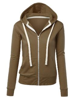 MBJ  - Womens Premium Active Soft Zip Up Fleece Hoodie Sweater Jacket